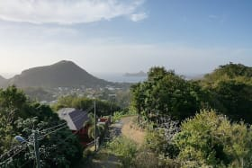 View of Pigeon Island (from the other side of the road)