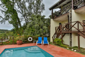 Pool area, direct access from bedroom
