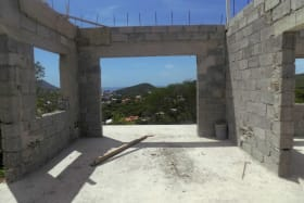 Ground Level - 1 Bed Apartment with View looking West towards Beausejour & Rodney Bay