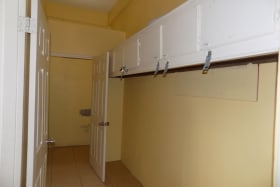 Bathroom (and shower) and locker area