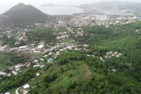 View of Rodney Bay, Cap Estata, Cas En Bas and up to Vigie