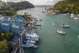 Aerial View of Marigot Bay