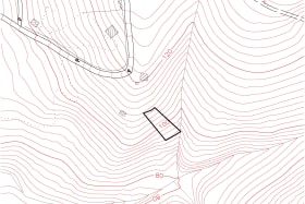 Topo map outlining - moderately to gently sloping