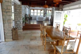 Open Dining with Marble Tile