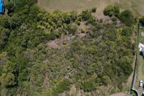 Overhead view of Land