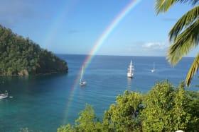 Rainbow views over the Bay