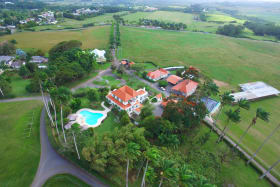 Aerial photo of Plantation house and surrounding lands