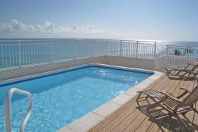 Roof-deck pool