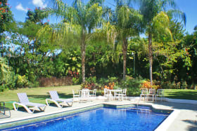 Beautiful pool and lovely landscaped grounds