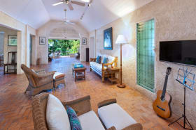Spacious Living Room Leads to Patio