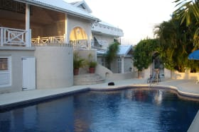 Swimming pool shared with upper floor tenants