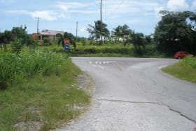 Entrance to Lots looking towards the highway