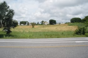 View of lots taken from across the highway looking North East