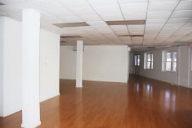 Open space with views of the Careenage