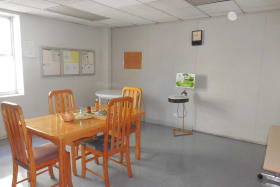 Lunchroom on first floor