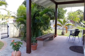 Beautiful Barbados patio - guest apartment