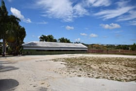 Stables and Parking Area