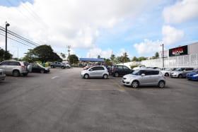Large parking area