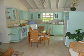 LIVING /DINING AND KITCHEN AREA IN COTTAGE