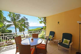 Patio with views of the Caribbean Sea