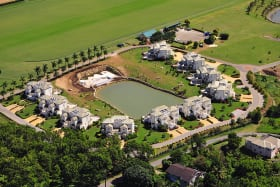 Aerial View of Polo Villas