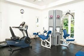 Communal gym at Schooner Bay