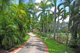 Impressive driveway adjoining golf course