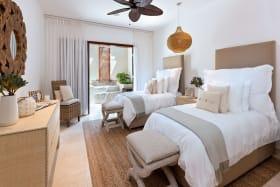 Spacious bedroom with luxurious en-suite bathroom