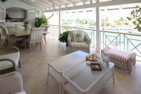 Front patio overlooking the lagoon