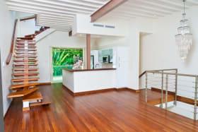 First floor open plan modern living area