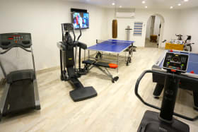 Gym and games room