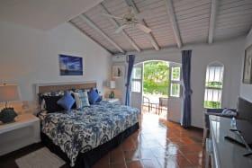 Master bedroom opens to balcony