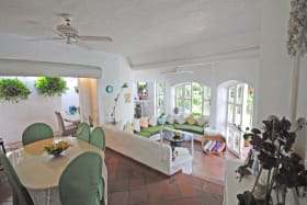 Dining room leads to conservatory dining bar and to the sitting room