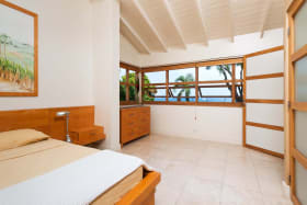 Master bedroom with great sea views