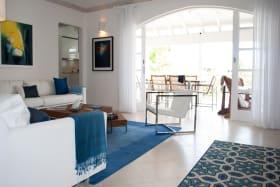 Sitting room leads to the verandah