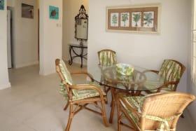 Indoor breakfast/dining area