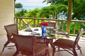 Dining balcony as well as lounge and bar with sea views