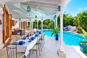 Dining veranda poolside