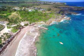 Aerial photo of Skeetes Bay