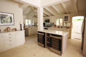 Open plan, top of the line kitchen
