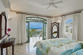 Master bedroom facing the Caribbean Sea