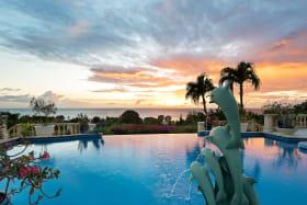 Pool at sunset