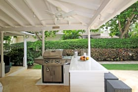 Wet bar on patio, perfect for entertaining