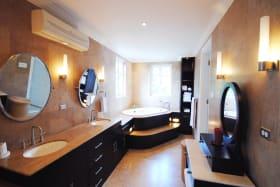 Extended custom built master bathroom