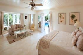 Bedroom pool side view