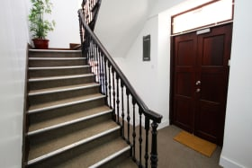 Staircase and separate entrance