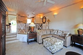Sitting room leads to spacious veranda