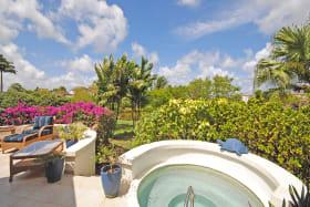 Private plunge pool on veranda