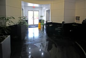 Main entry foyer with manned security