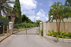 Electric gates at main entrance